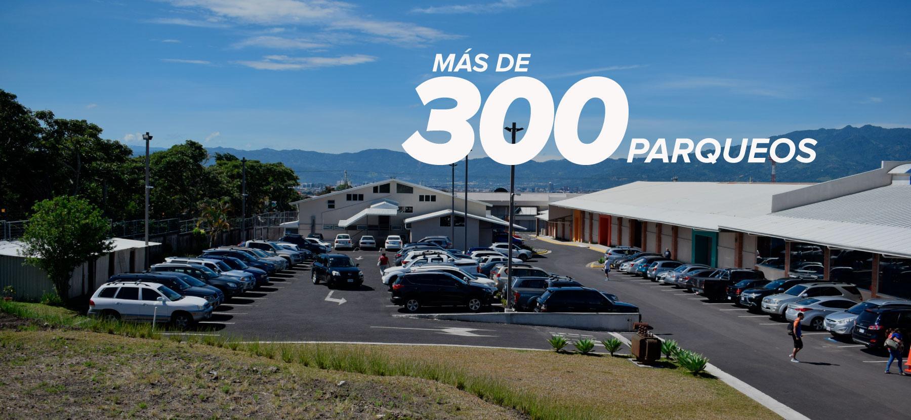 Banner Zona 5 - Mas de 300 parqueos